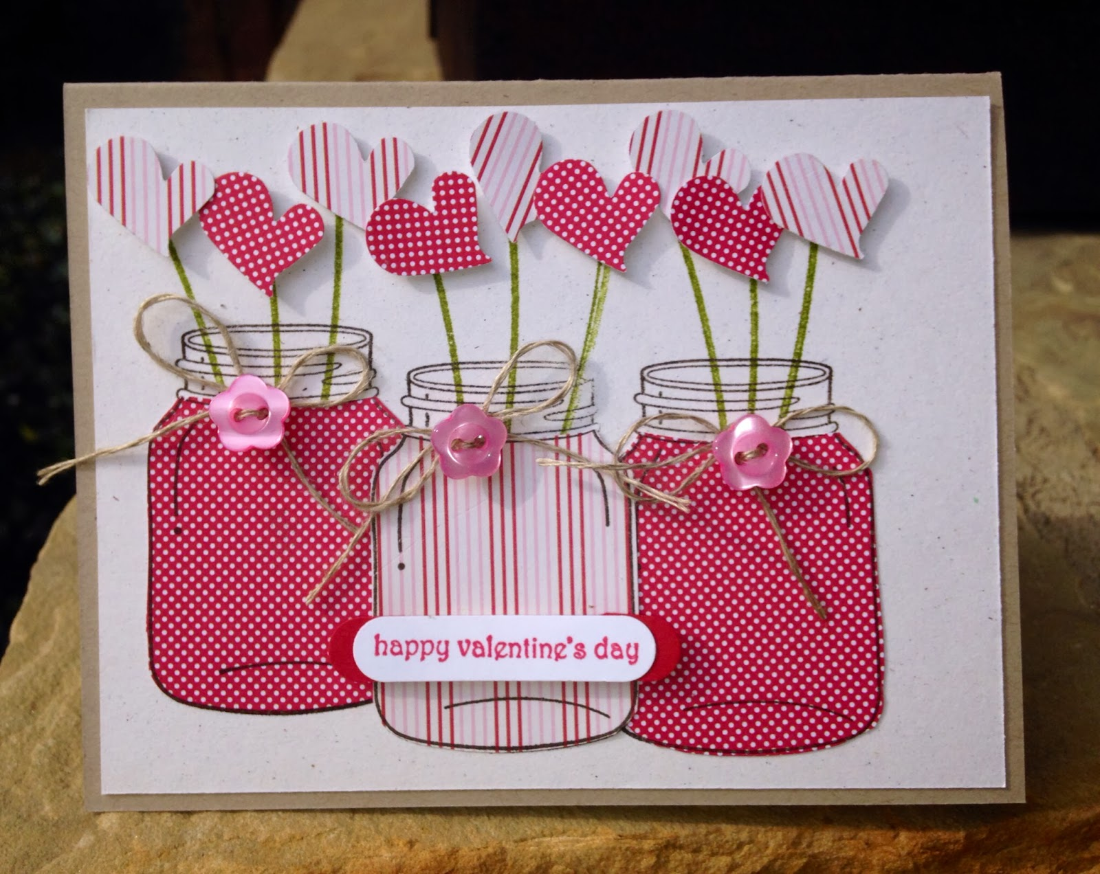 """claire creates cards happy valentine's day """"just us girls"""