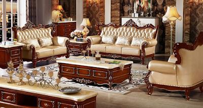 contoh sofa jati