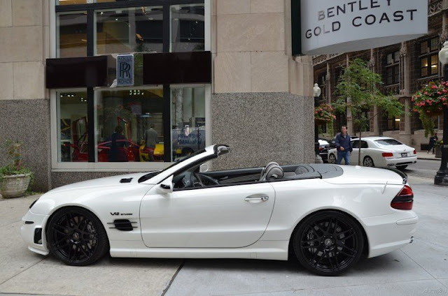 white mercedes sl 65 amg