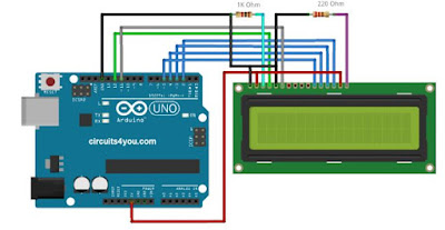 How to Connect 16x2 LCD Display/EVM connection with lcd