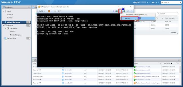Cara mudah insert file .ISO dari Datastore ke Console WMware via Web Console
