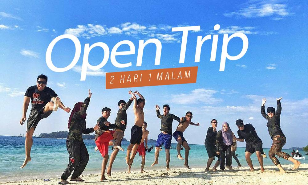 paket wisata gabungan atau open trip pulau harapan