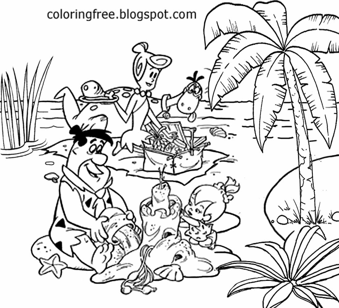 Simple Cute Drawings Flintstones Family Beach Holiday Best Friend Coloring Pages For Teenage Girls
