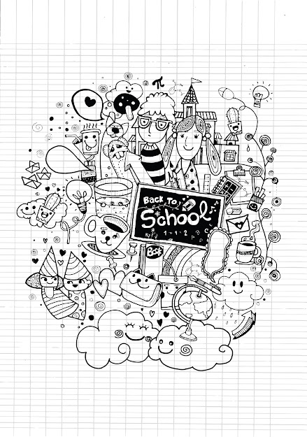 Free Coloring Page Coloringdoodlebacktoschoolbygeorge