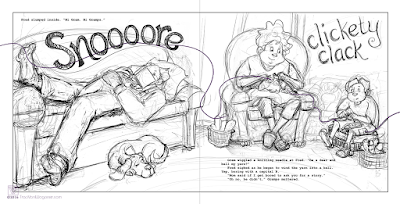 Sketch for children's book written and illustrated by Traci Van Wagoner