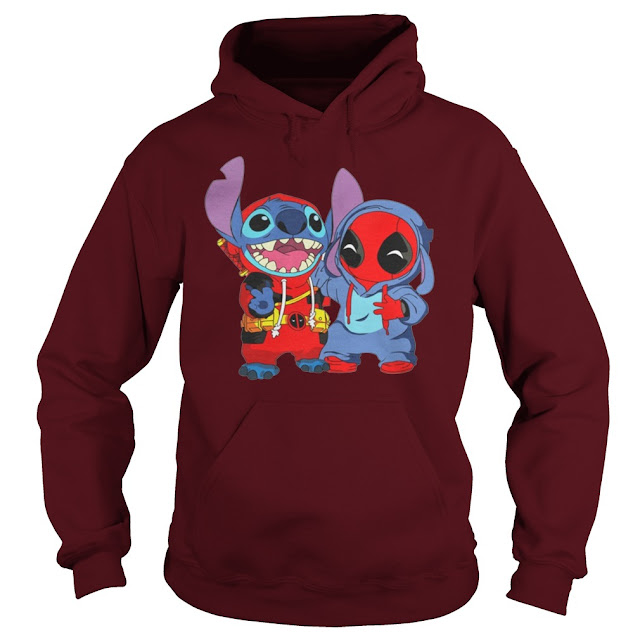 Deadpool and Stitch Hoodie, Deadpool and Stitch Sweatshirt, Deadpool and Stitch T Shirts