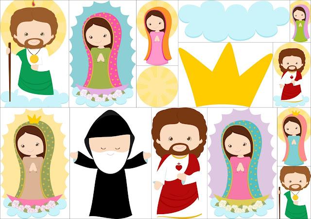 Saint and virgin Mary clipart.