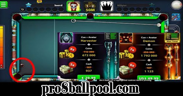New cues! With some indirect highlights! 8 ball pool by Miniclip