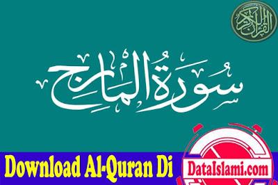 Download Surat Al Ma'arij Mp3 Full Ayat Merdu