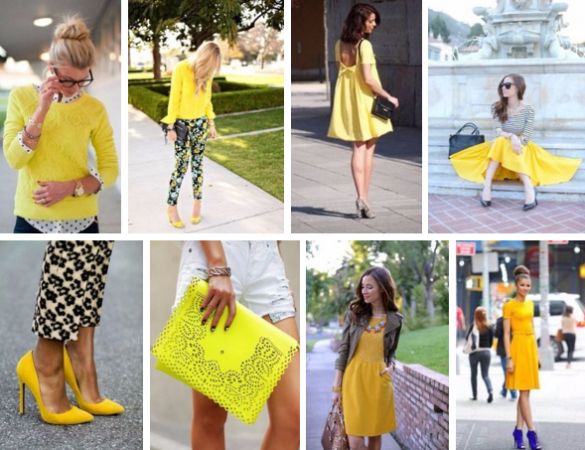 Yellow fashion inspiration