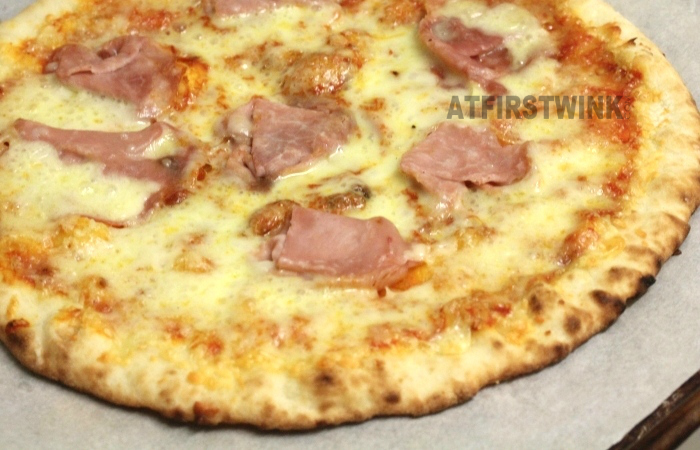 Marks and Spencer stone baked pizza double cheese and ham