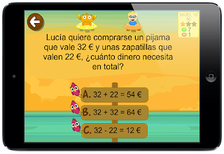App para aprender matemáticas: sumas y restas con Kely problemas de texto