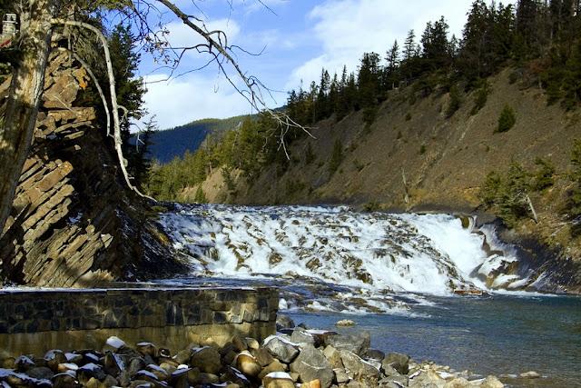Bow Falls em Banff