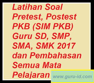 GAMBAR SOAL PRETESR DAN POSTEST SIM PKB 2017