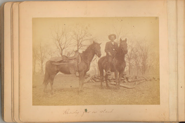 man and horses hickory ridge studio