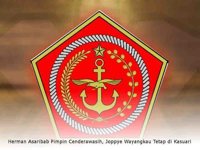 Herman Asaribab Pimpin Cenderawasih, Joppye Wayangkau Tetap di Kasuari