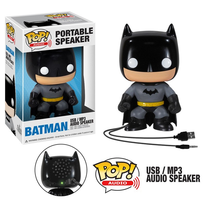 the blot says batman pop audio vinyl figure portable speaker by funko. Black Bedroom Furniture Sets. Home Design Ideas