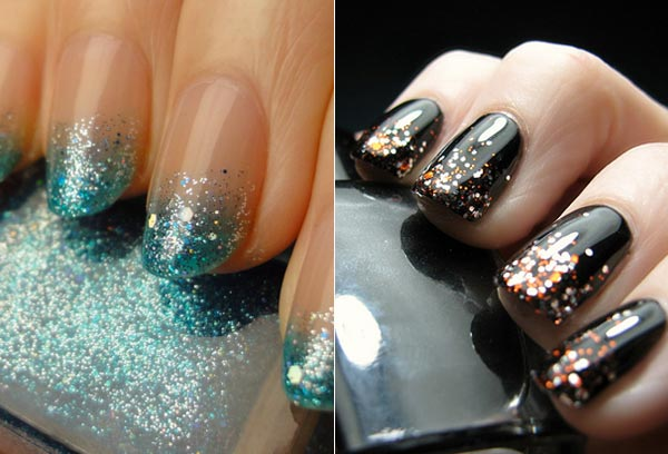 Hairstyle And Fashion How To Ombre Glitter Nail Art Ideas
