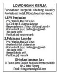 Lowongan Kerja SUPERVISOR Lampung