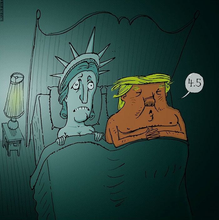 15+ Cartoonists Around The World Illustrate How They Feel About Trump Becoming President - Trump Caricature