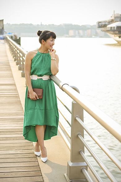 Hilow Emerald Green Dress Banana Republic