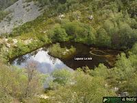 Vista de la Laguna La Isla en Muniellos