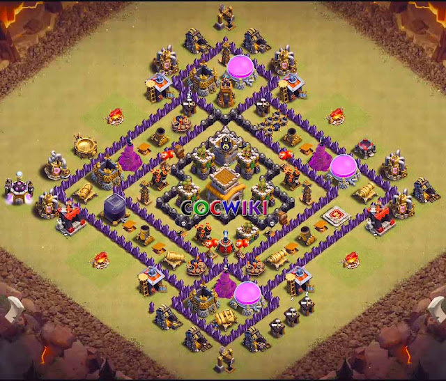 anti dragon th8 war base 2019