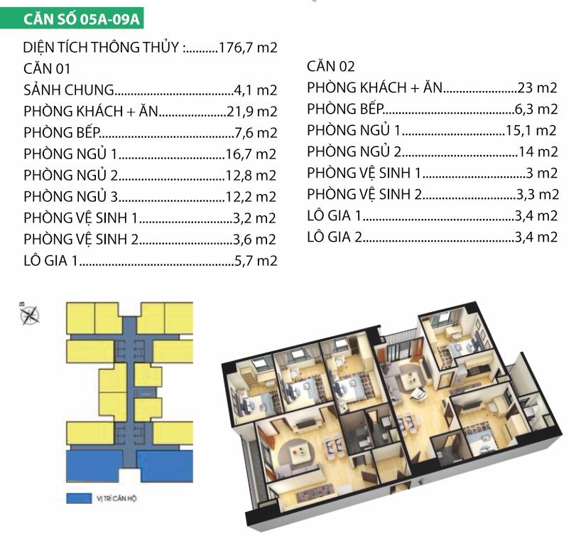 Thiết kế căn hộ 5A-9A Housinco Premium