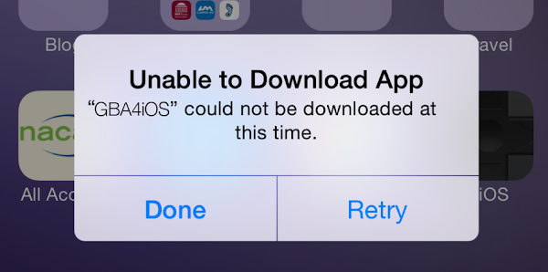 GBA4iOS Could not be downloaded