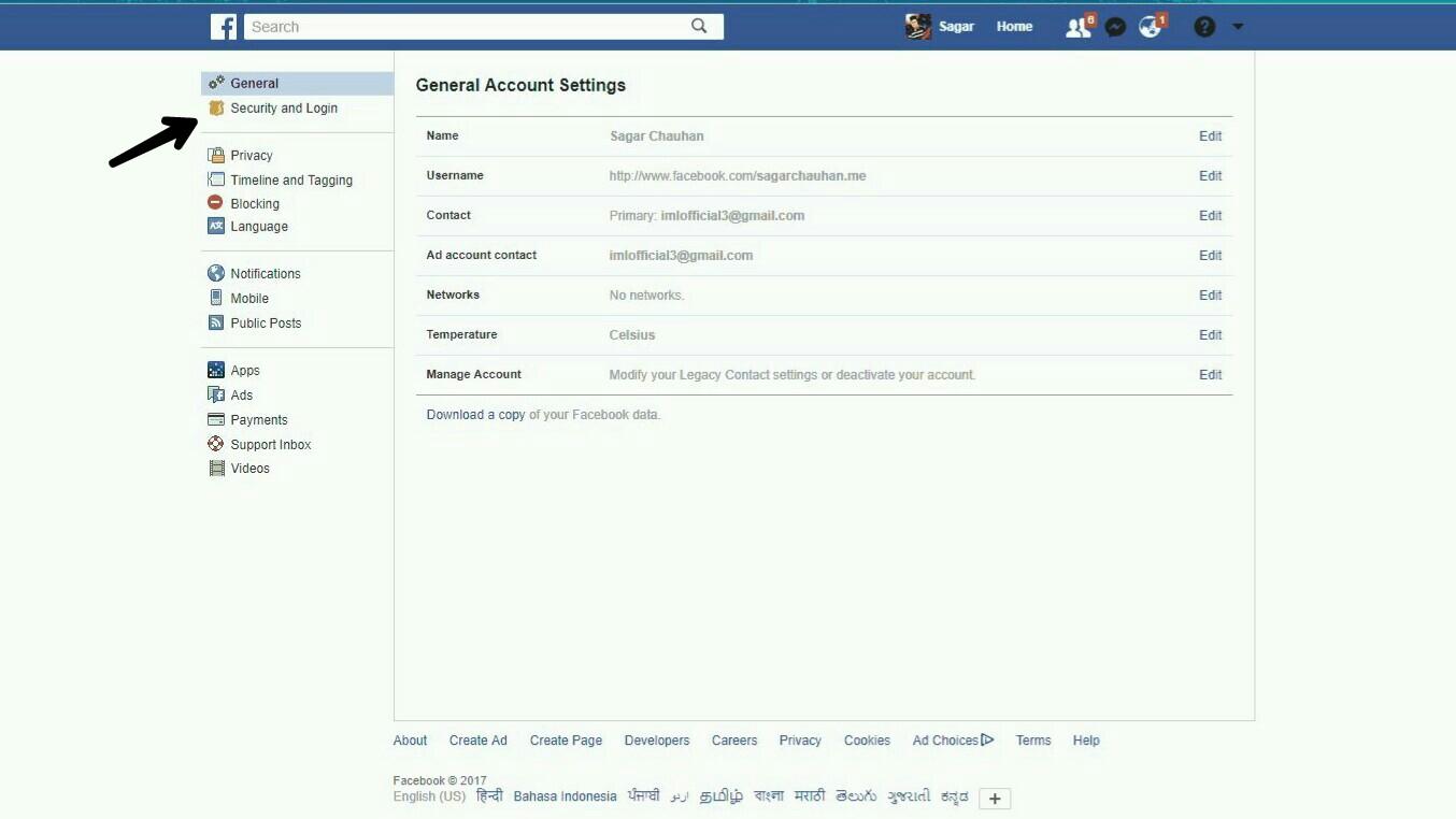 Enable Two-Step Vertification In Facebook