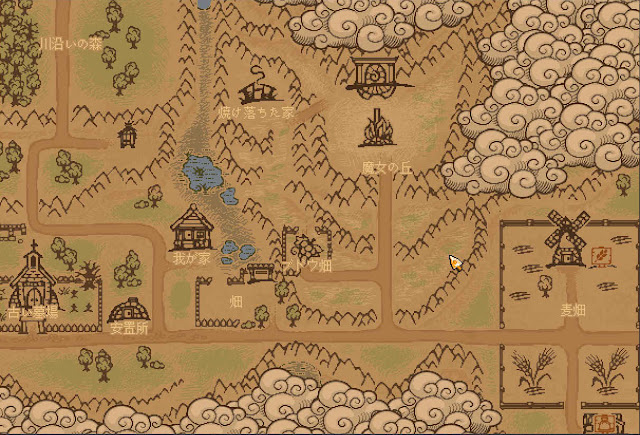 ブドウ畑への地図