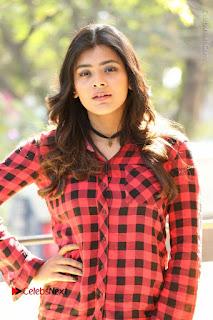 Actress Hebah Patel Stills in Blue Denim Jeans at Nanna Nenu Naa Boyfriends Movie Success Meet  0020.JPG
