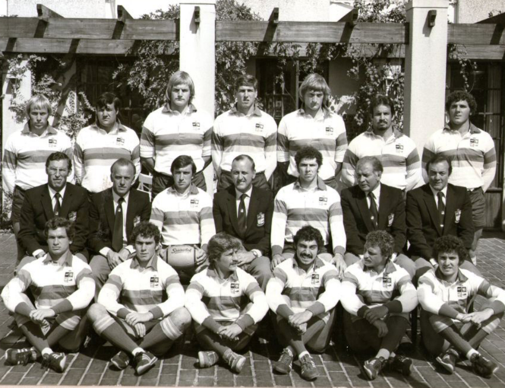El equipo que disputó el primer test junto al staff (Foto: Periodismo Rugby)