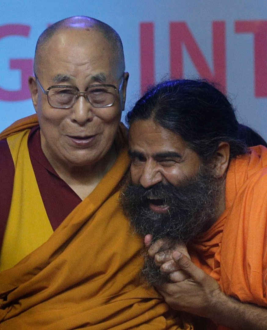 Baba Ramdev meets Dalai Lama at World Peace and Harmony Conclave