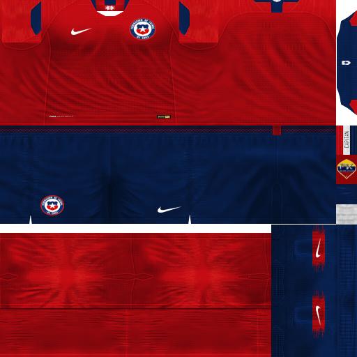 PES 6 Kits Chile National Team Season 2018/2019 by FacaA/Ngel - PES