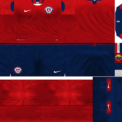 PES 6 Kits Chile National Team Season 2018/2019 by FacaA/Ngel