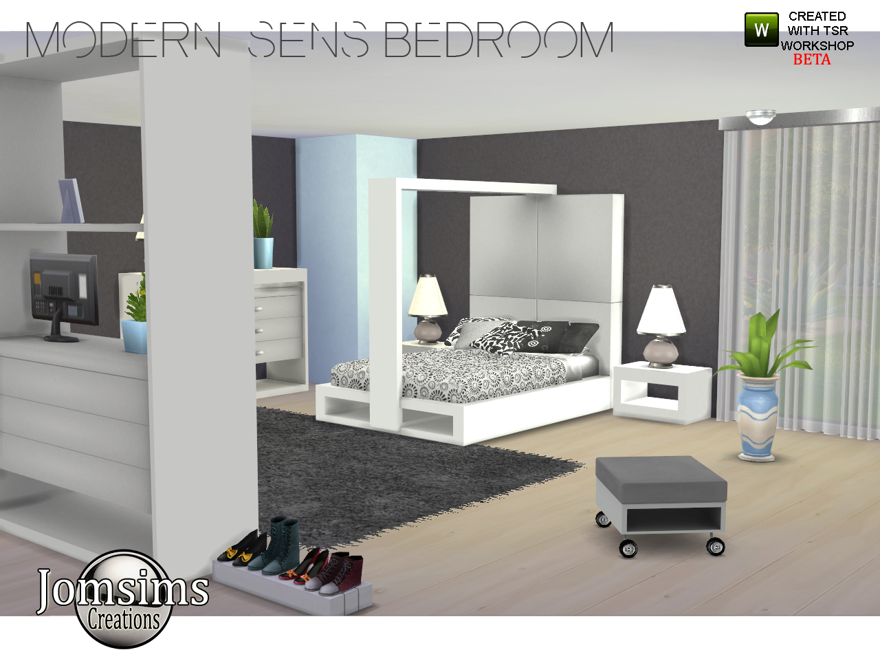 Jomsimscreations blog new bedroom modern sens sims 4 for Bedroom designs sims 4