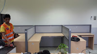 meja sekat partisi kantor kubikel kubikal cubicle workstation semarang