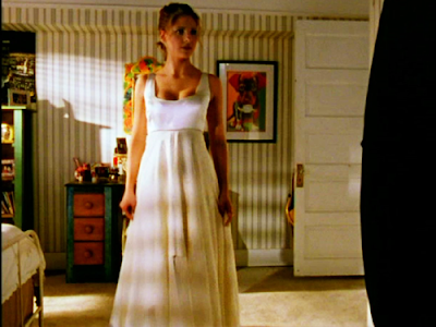 Buffy in her white dress