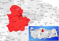 Laçin ilçesinin nerede olduğunu gösteren harita