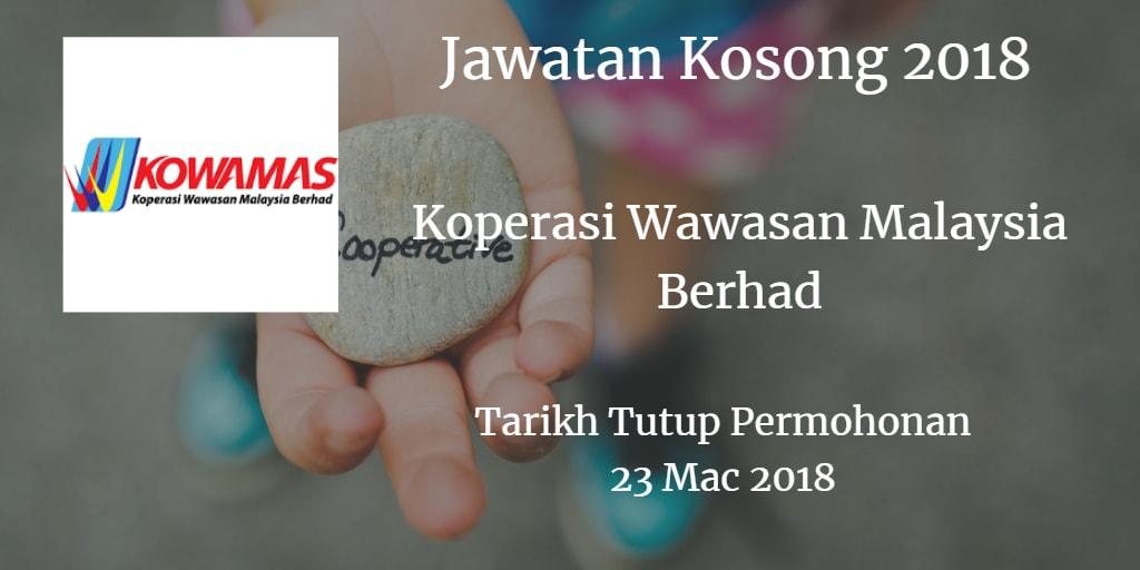 Jawatan Kosong KOWAMAS 23 Mac 2018