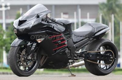 Modifikasi Kawasaki ZX-14R Ceper Ala Drag Bike