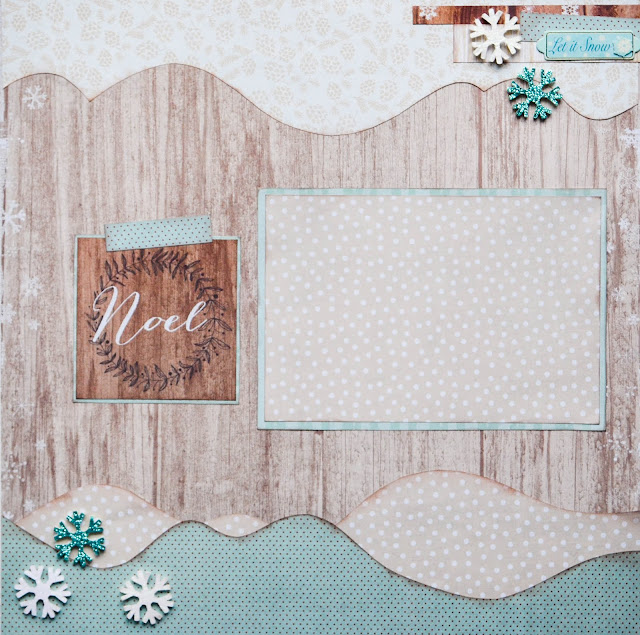 premade Christmas scrapbook page layout