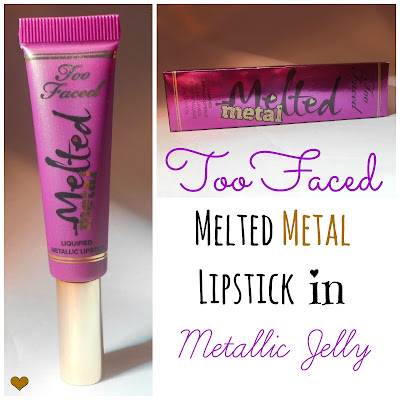 Too Faced Melted Metal Liquified Lipstick in Metallic Jelly