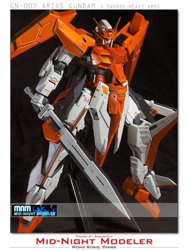 1 100 Arios Gundam With Customized Gn Swords Custom Build Gundam Kits Collection News And Reviews