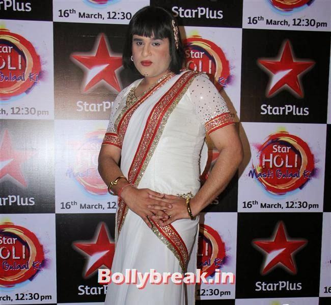 Krishna,  Jennifer winget, Shayantani , Others at Star Plus Holi Masti Gulal Ki