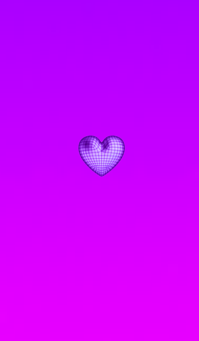 Wire Heart Purple
