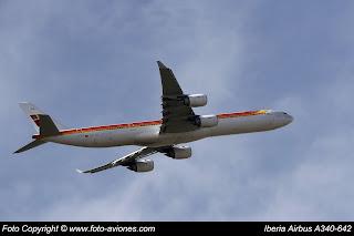 AVIÓN AIRBUS A340 EC-JLE