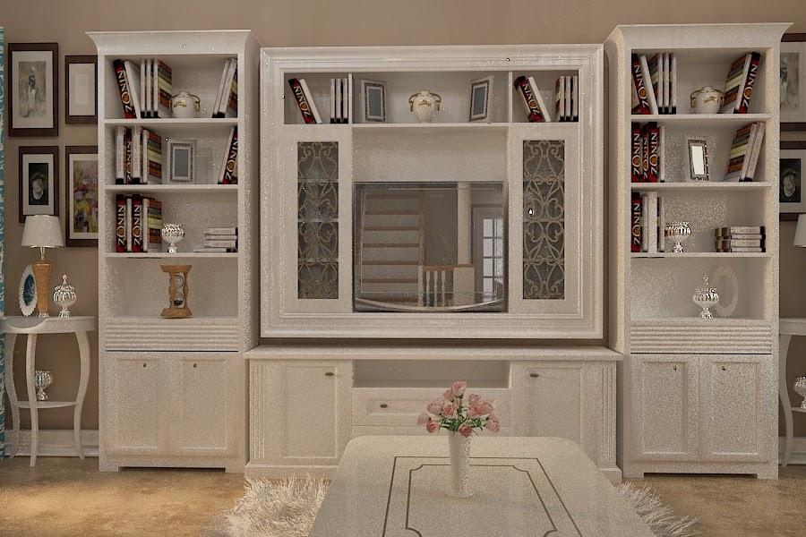 proiectare mobila living lemn