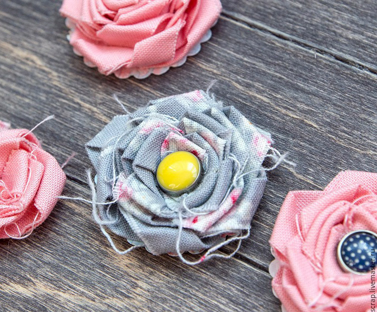 How to sew roses from fabric. DIY Tutorial